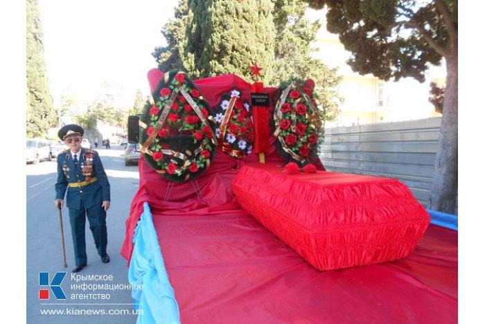 В Алуште перезахоронили неизвестного солдата