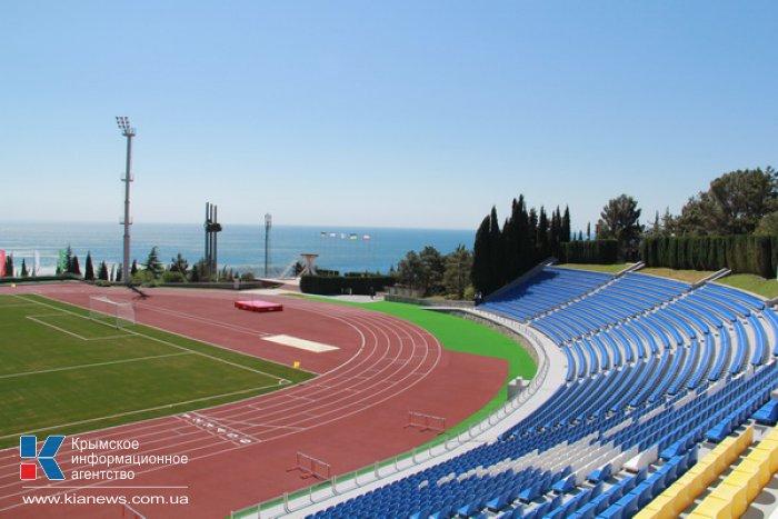 Президент открыл в «Артеке» реконструированный стадион