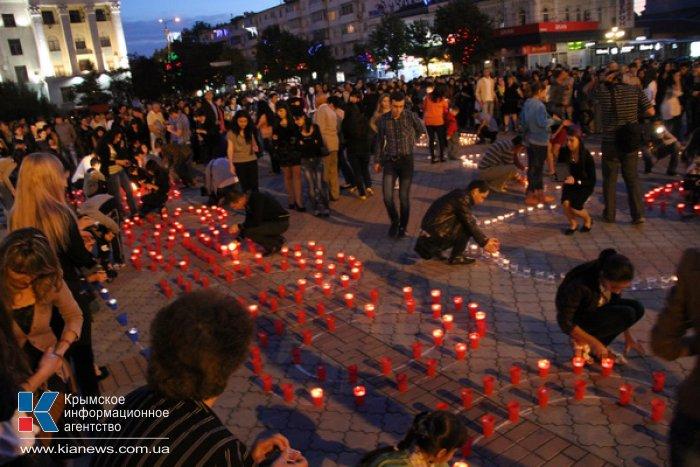 В Симферополе провели акцию «Зажги огонек в своем сердце»