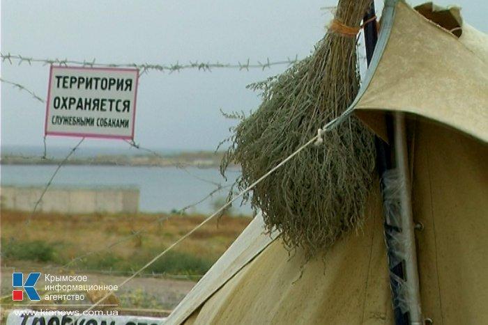 В Севастополе проходит пикет против добычи песка на мысе Фиолент