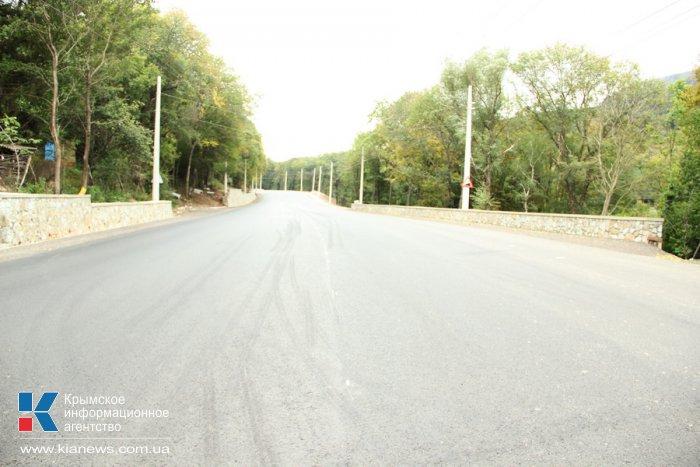 В Крыму завершен второй этап ремонта трассы «Симферополь – Алушта»