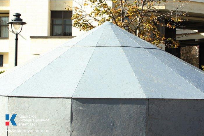 Фонтан в симферопольском сквере Республики закрыли на зиму
