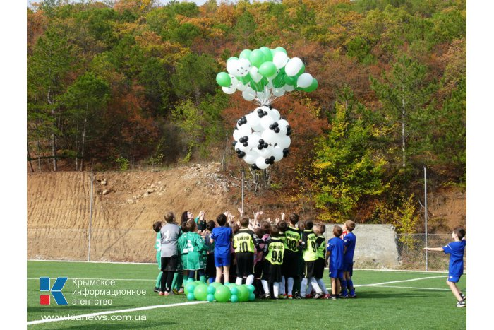 Под Алуштой открыли новое футбольное поле