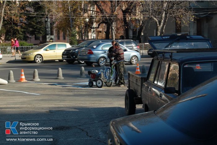 В Симферополе обустраивают парковку