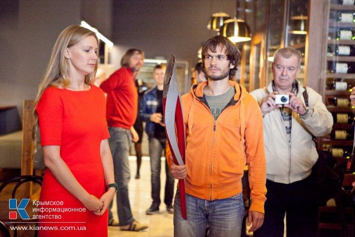 В Севастополь привезли олимпийский факел