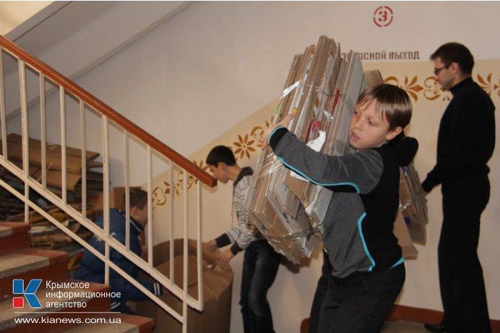 В Симферополе 25 учебных заведений присоединились к акции по сбору макулатуры