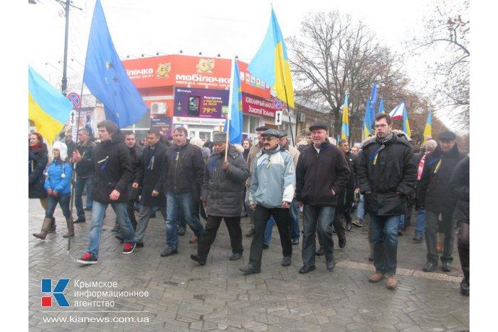 Митинг за  евроинтеграцию в Симферополе не нашел поддержки