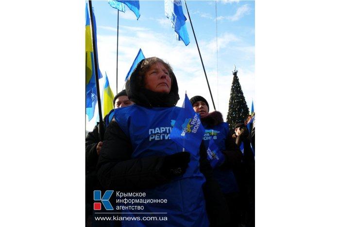 Крымчане вышли на митинг против «оранжевого» переворота
