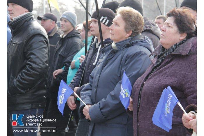 В Симферополе прошел митинг против государственного переворота