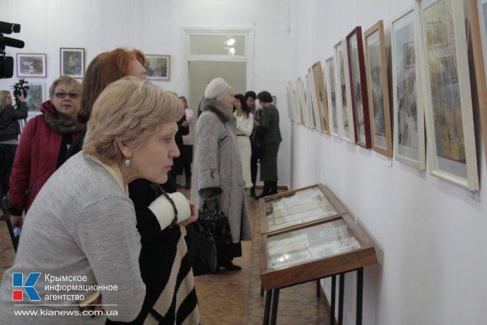 В Симферополе открылась выставка акварели крымского архитектора