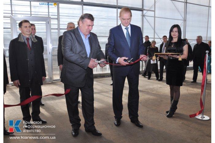В Крыму открыли новый тепличный комплекс