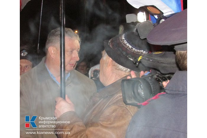 В Симферополе прошла мирная акция «Стоп майдан»