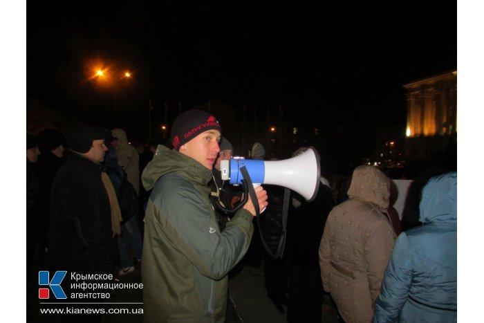 В Симферополе прошел митинг в поддержку власти