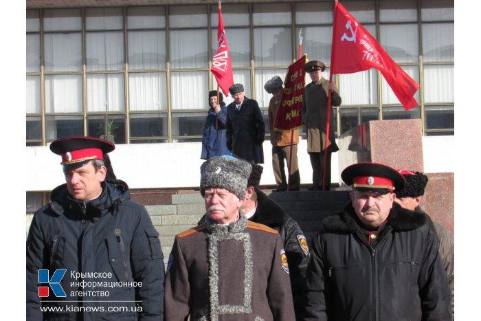 В Симферополе прошла акция против беспорядков в Киеве