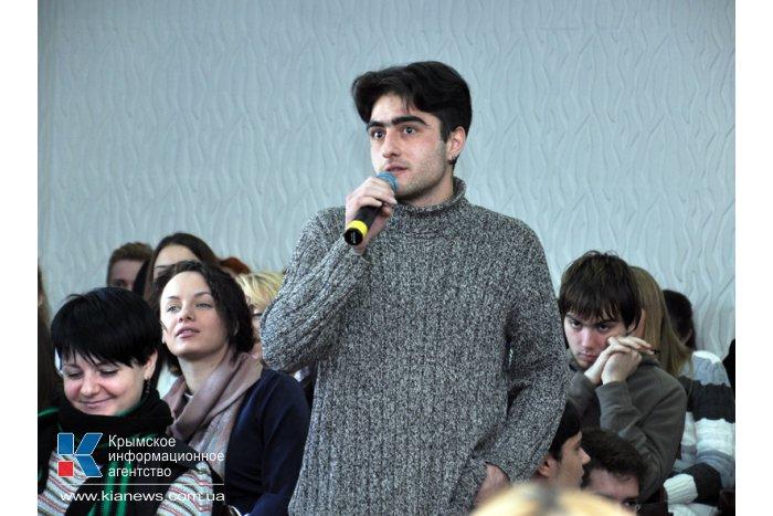 Члены Президиума Крыма встретились со студентами университета культуры в Симферополе