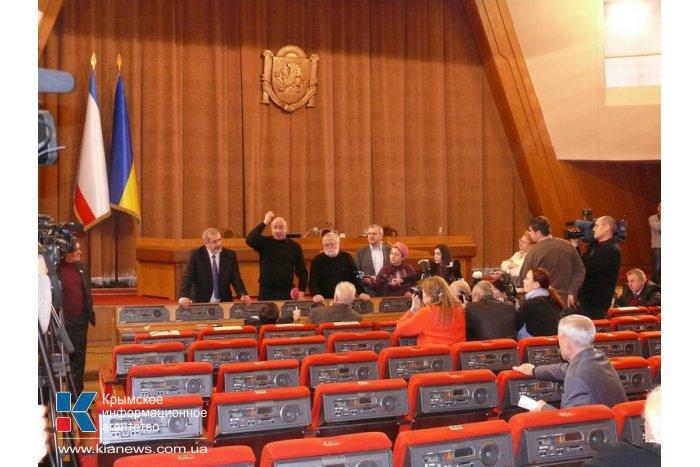 Сессия Верховной Рады АРК не состоялась