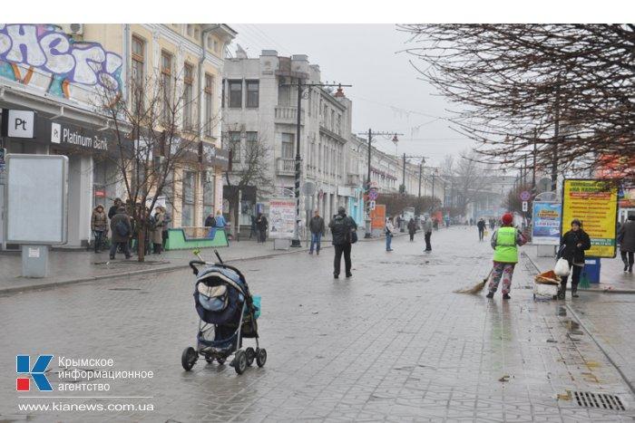 Центральные улицы Симферополя по-прежнему перекрыты