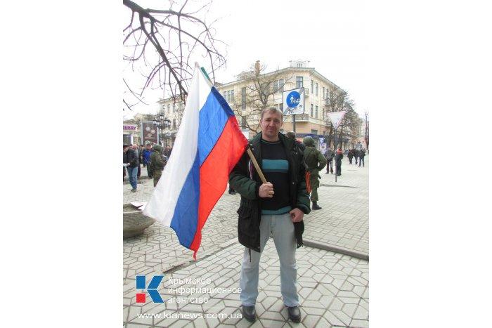 В Симферополь для поддержания боевого духа приехали севастопольцы