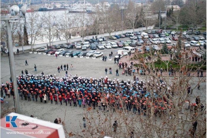 В Севастополе провели флешмоб