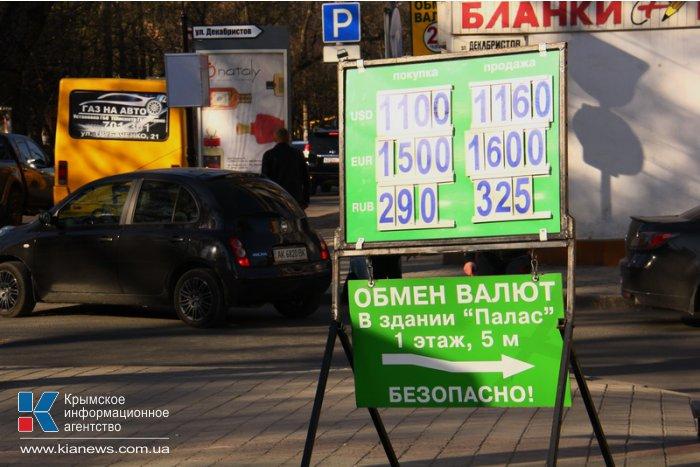 Симферопольские обменники принимают рубли по курсу выше официального