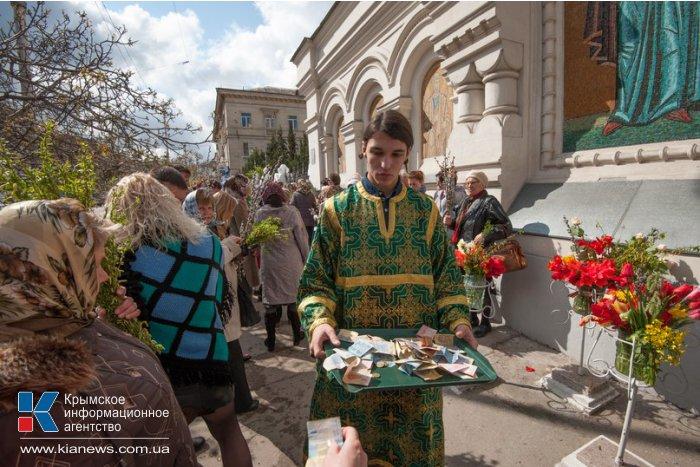 Православные Севастополя отметили Вербное воскресенье
