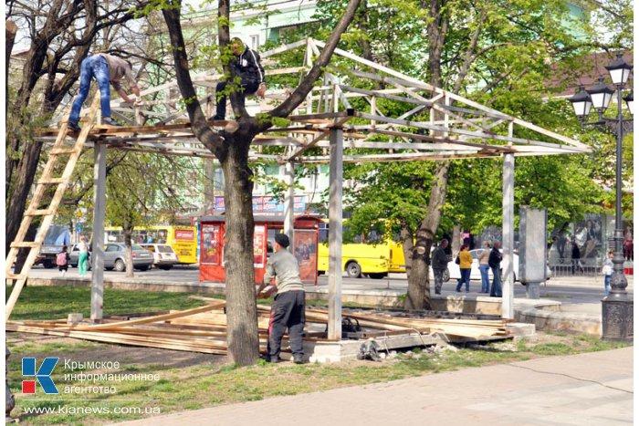 В сквере Тренева в Симферополе установят сувенирные ларьки