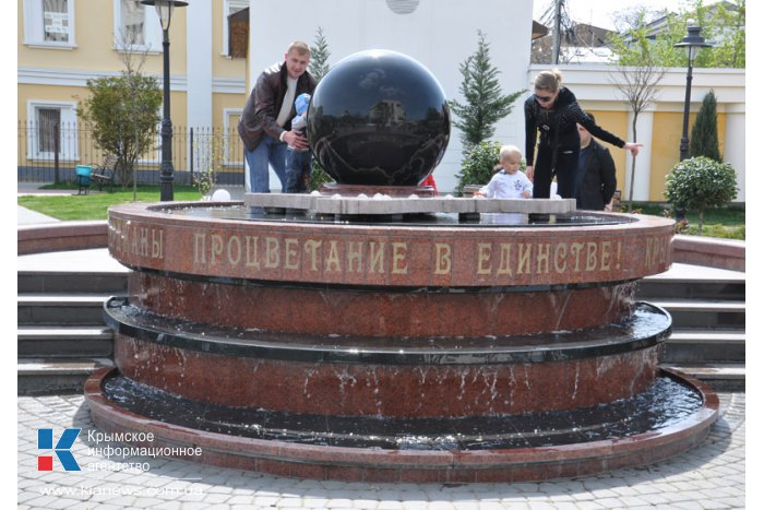В сквере Республики в Симферополе заработал фонтан