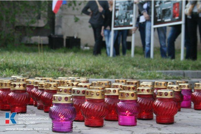 В Симферополе зажгли свечи в память о геноциде армянского народа