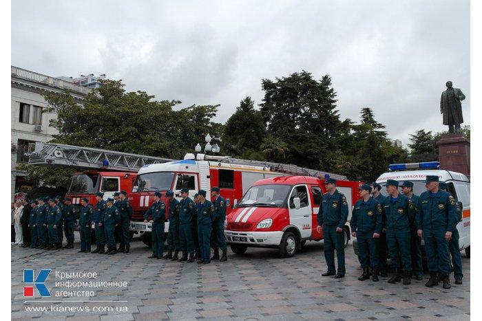 В Ялте отметили годовщину пожарной охраны РФ