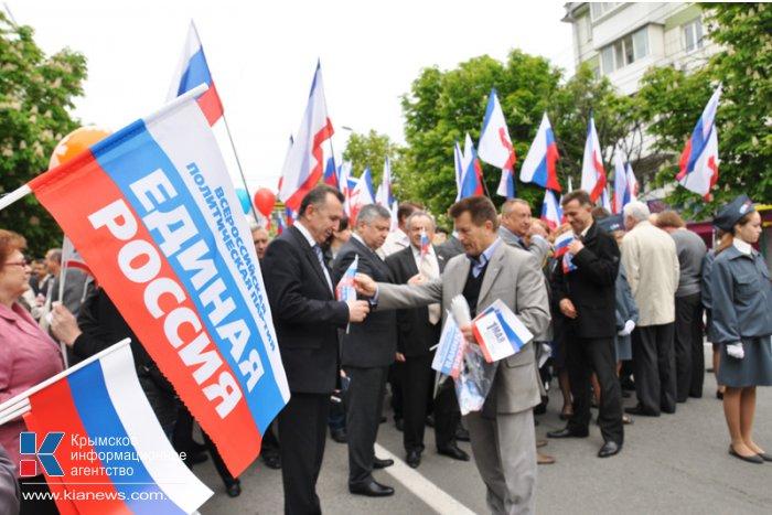 В первомайской демонстрации в Симферополе приняли участие около 100 тыс. человек