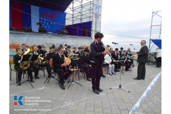 В Алуште прошел первомайский митинг-концерт