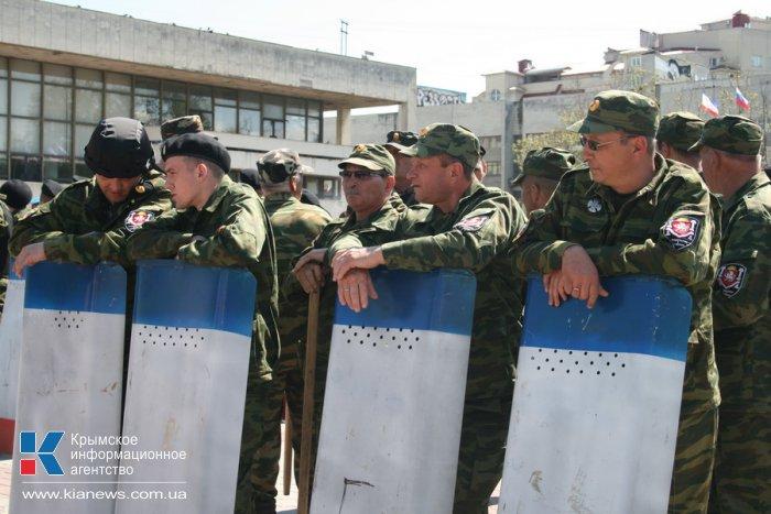 Крымский полк народного ополчения провел учения в Симферополе