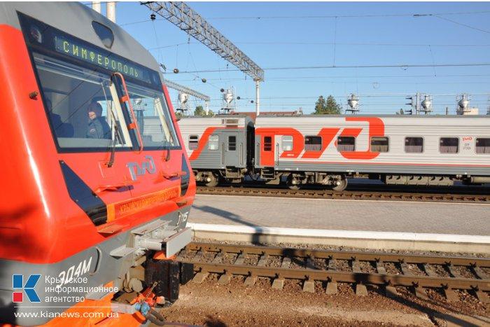 В Крыму начал курсировать российский электропоезд