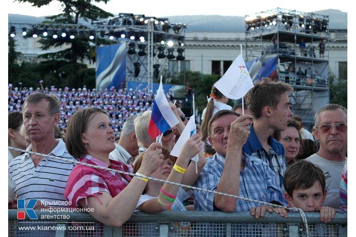 В Ялте прошло грандиозное аква-воздушное шоу