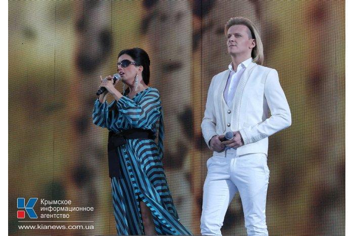 Российские артисты выступили в Ялте