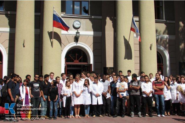 Студенты крымского медуниверситета митинговали против вхождения в состав федерального вуза