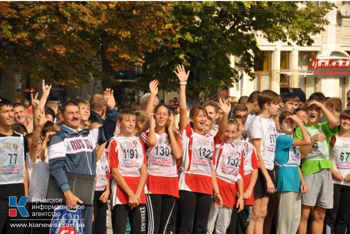 В Симферополе провели забег «Кросс нации»