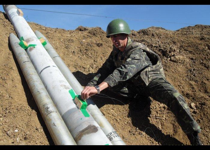 В Крыму уничтожили 2 тонны боеприпасов