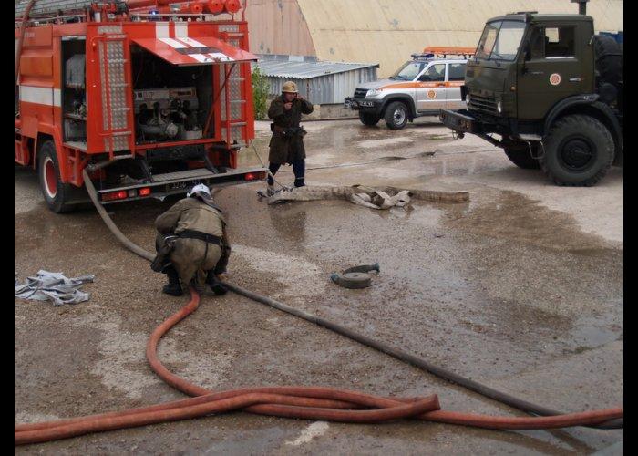 В Симферопольском районе горел цех