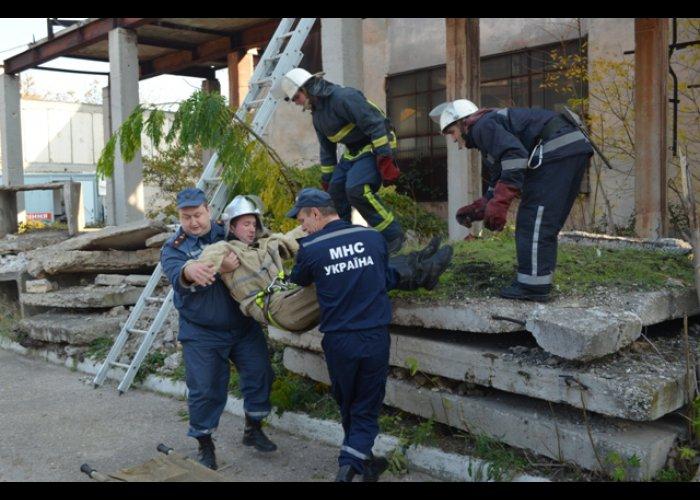 На котельной в Севастополе провели учения спасателей