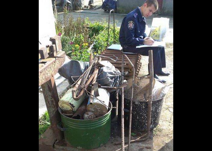 Житель Сак устроил дома подпольный пункт приема металла