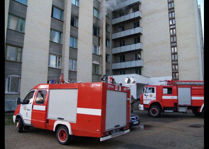 В Симферополе горело общежитие с иностранными студентами