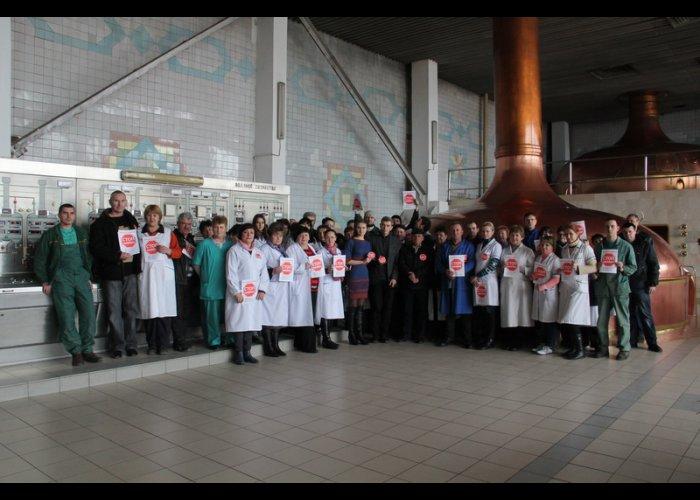 «Стоп майдан» провел акцию для работников ПБК «Крым»