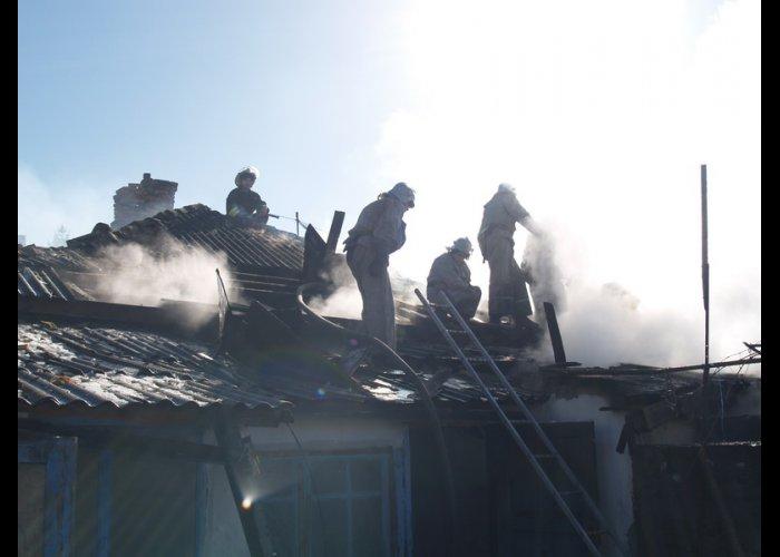 На пожаре в Симферопольском районе спасли женщину