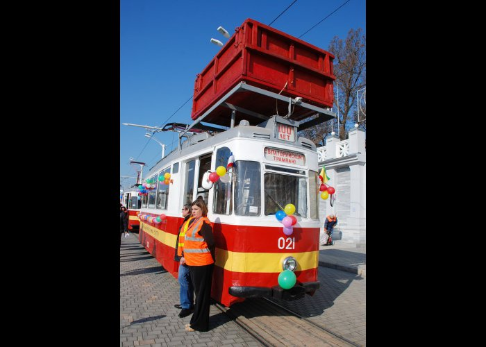 В Евпатории прошел парад трамваев