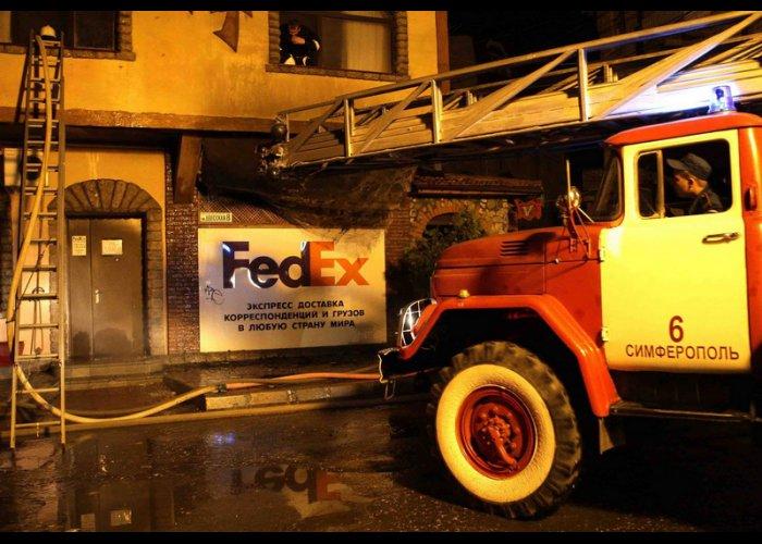 В Симферополе горела гостиница