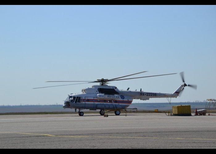 Леса Крыма патрулирует вертолет МЧС