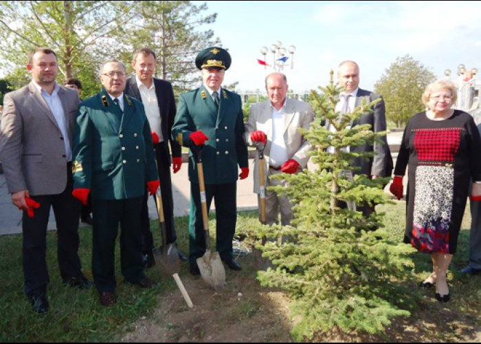 В Бахчисарае посадили привезенные из Татарстана саженцы