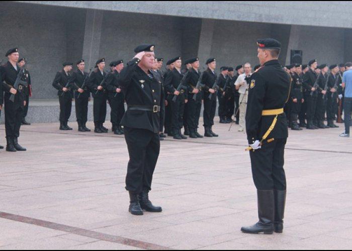 В Севастополе морские пехотинцы весеннего призыва приняли присягу
