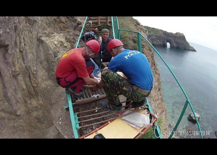 На Фиоленте турист сорвался с высоты при спуске к морю